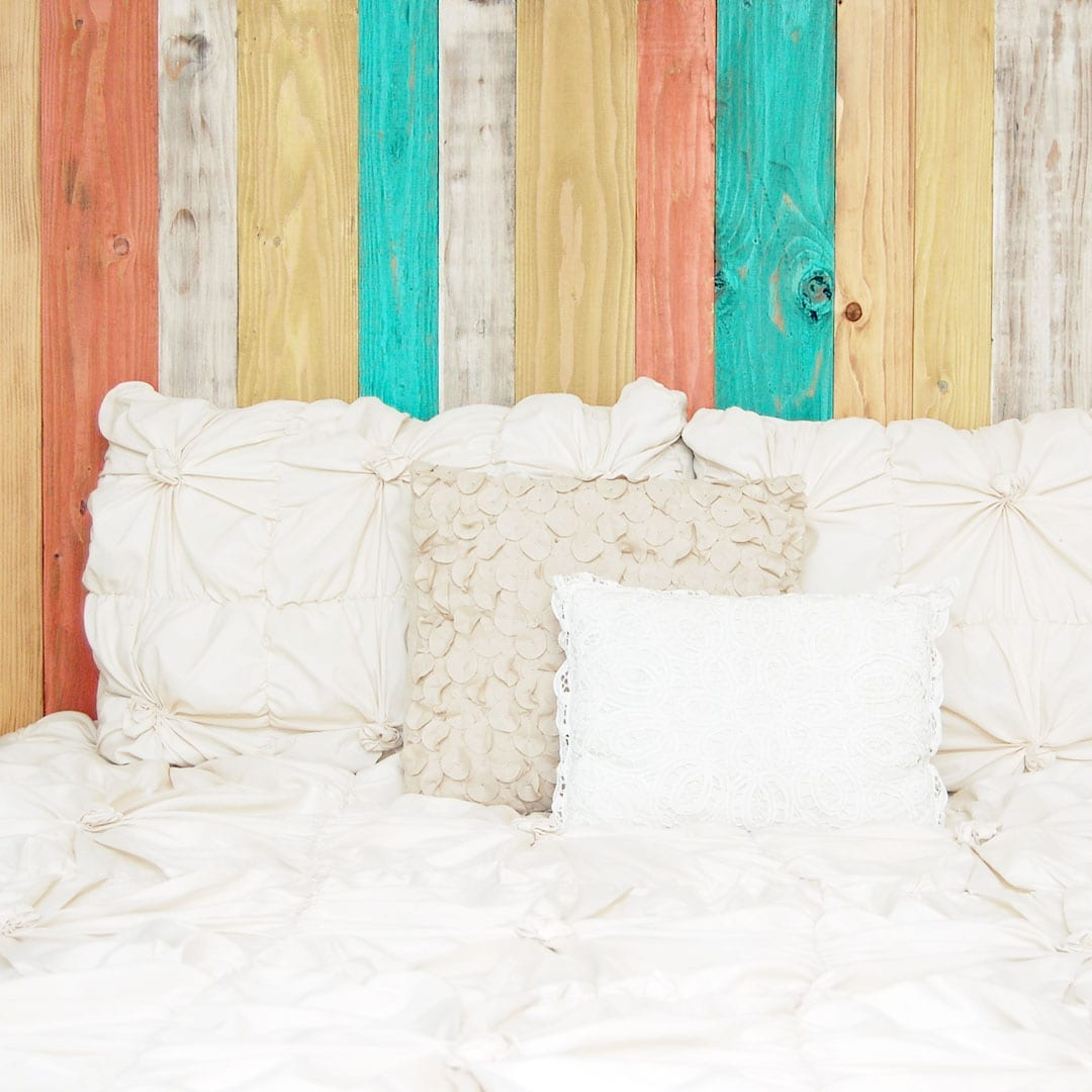 Each customized headboard is assembled by hand