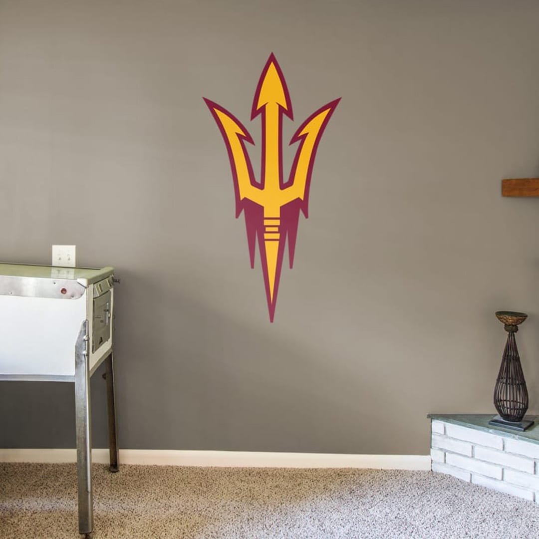 Prove that you're a super fan with a giant wall decal. It could also embellish a headboard and remove without damaging it.