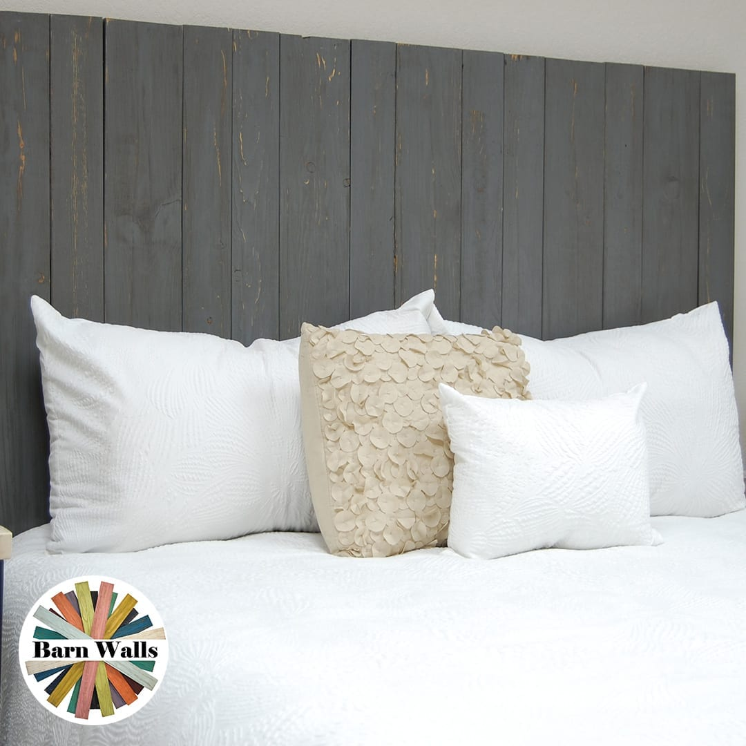 Our weathered grey headboard works with lots of school mascots. Get it in hanger and leaner styles.