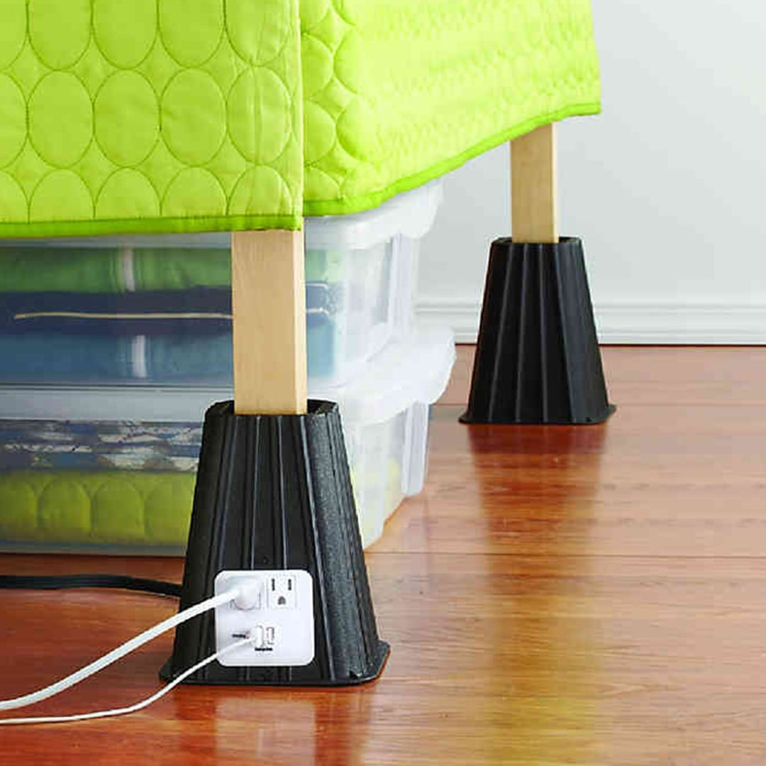 Utilize the wasted space underneath your bed and get an extra outlet with this inexpensive USB Bed Lift Set.