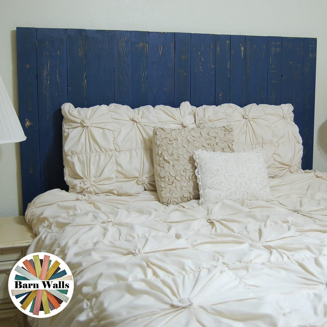 If blue is your school's color, this is your headboard. Get it in hanger or leaner styles.