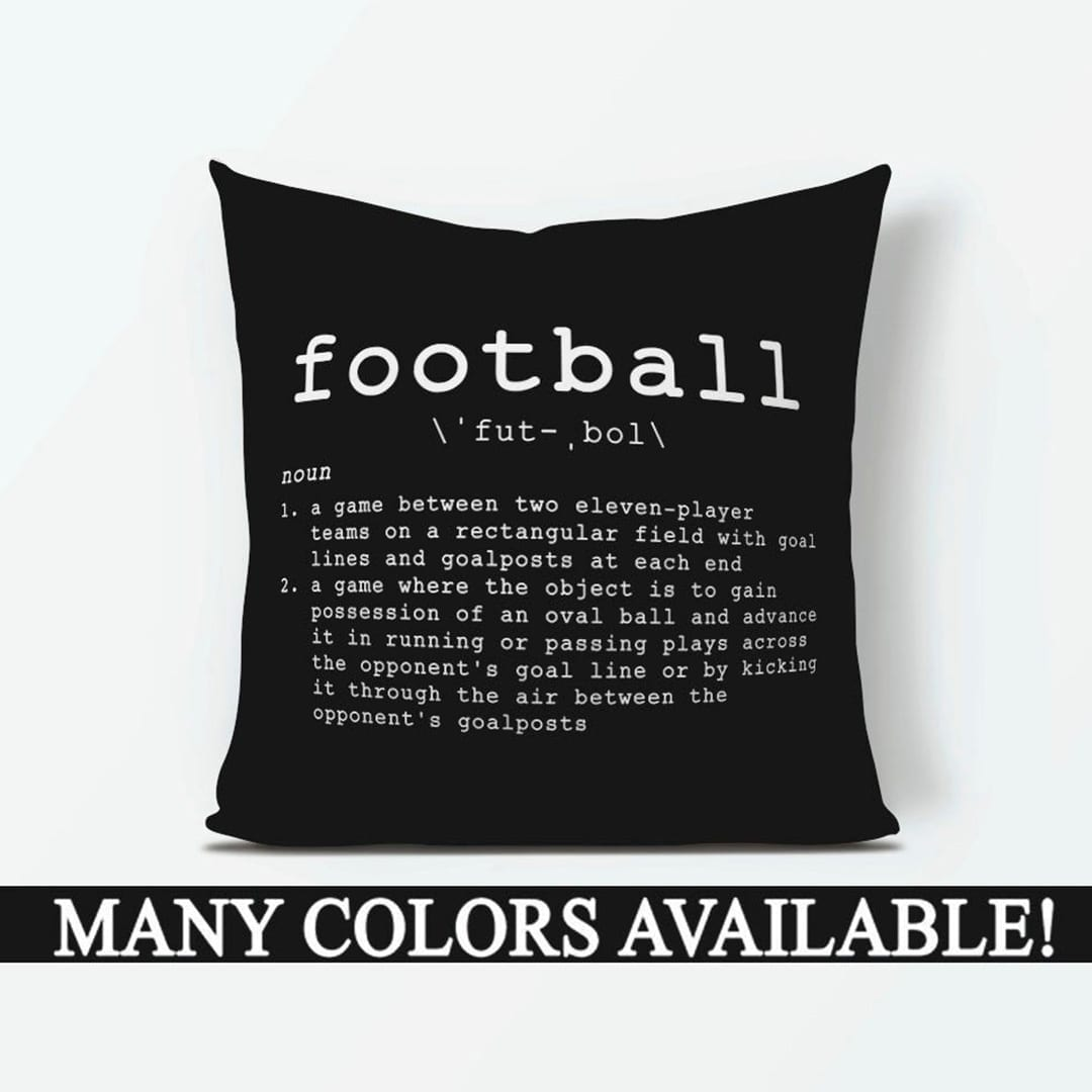 Show your love for the sport without committing to a team with this clever pillow.