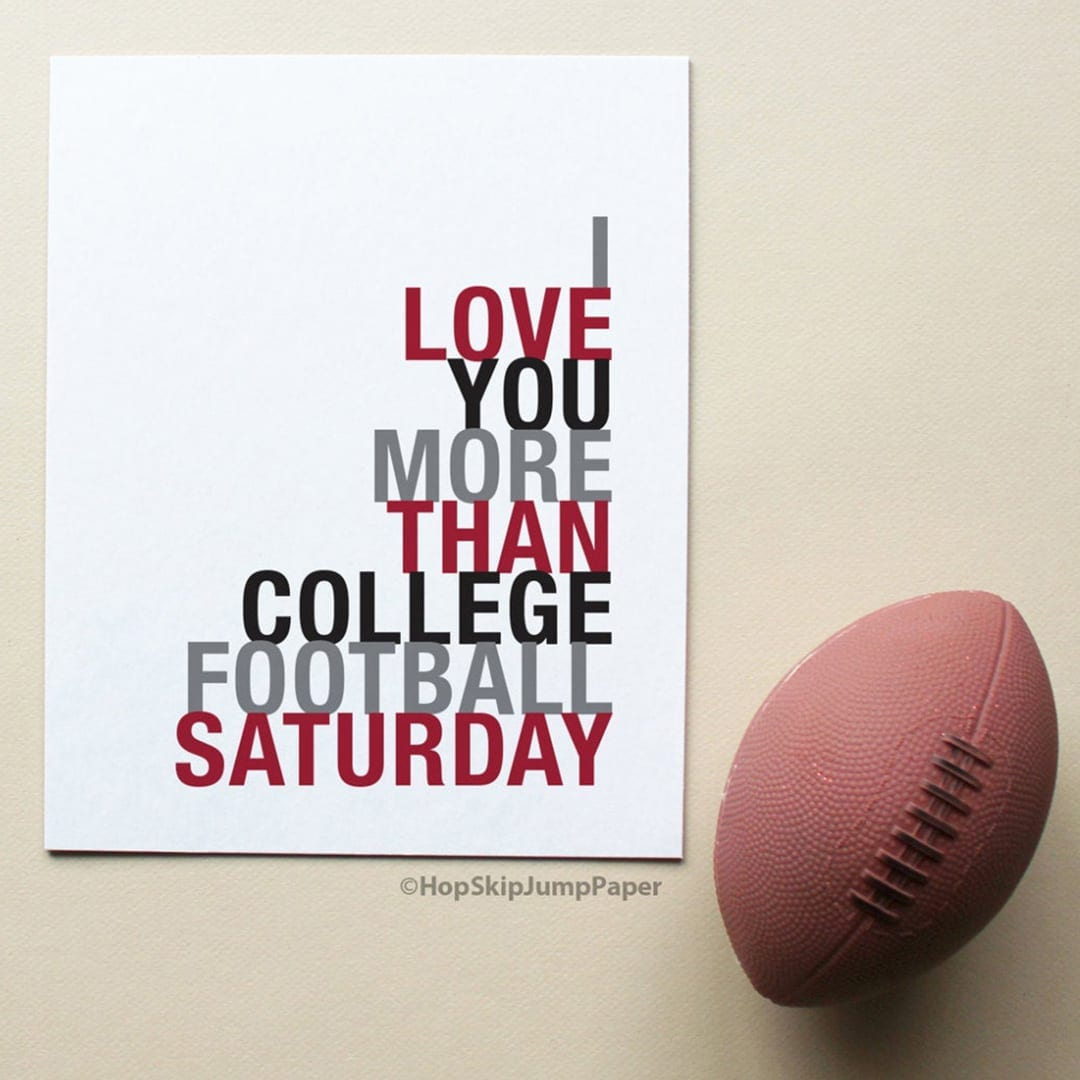 Add a little humor to your bedroom with these football inspired art prints .