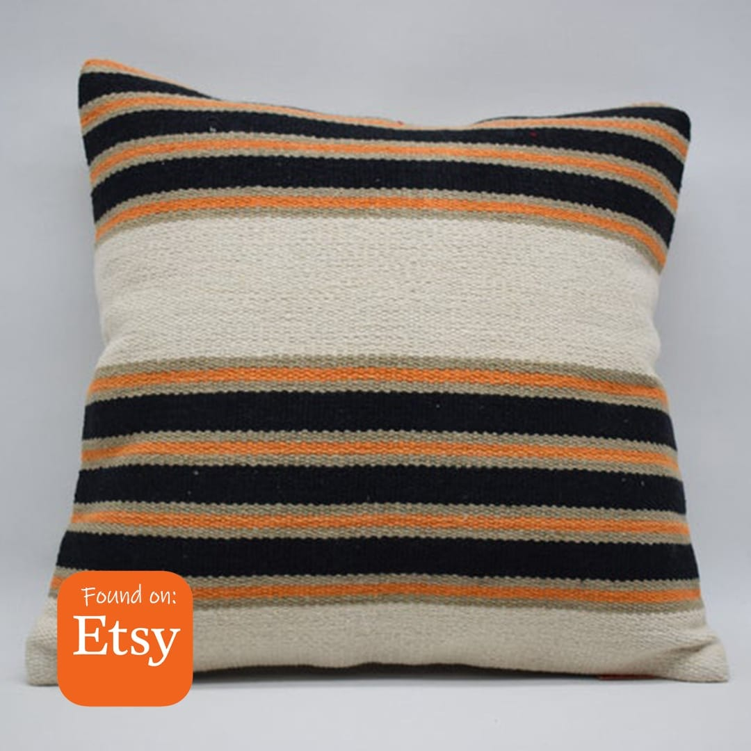 Chic Orange Pop Pillow