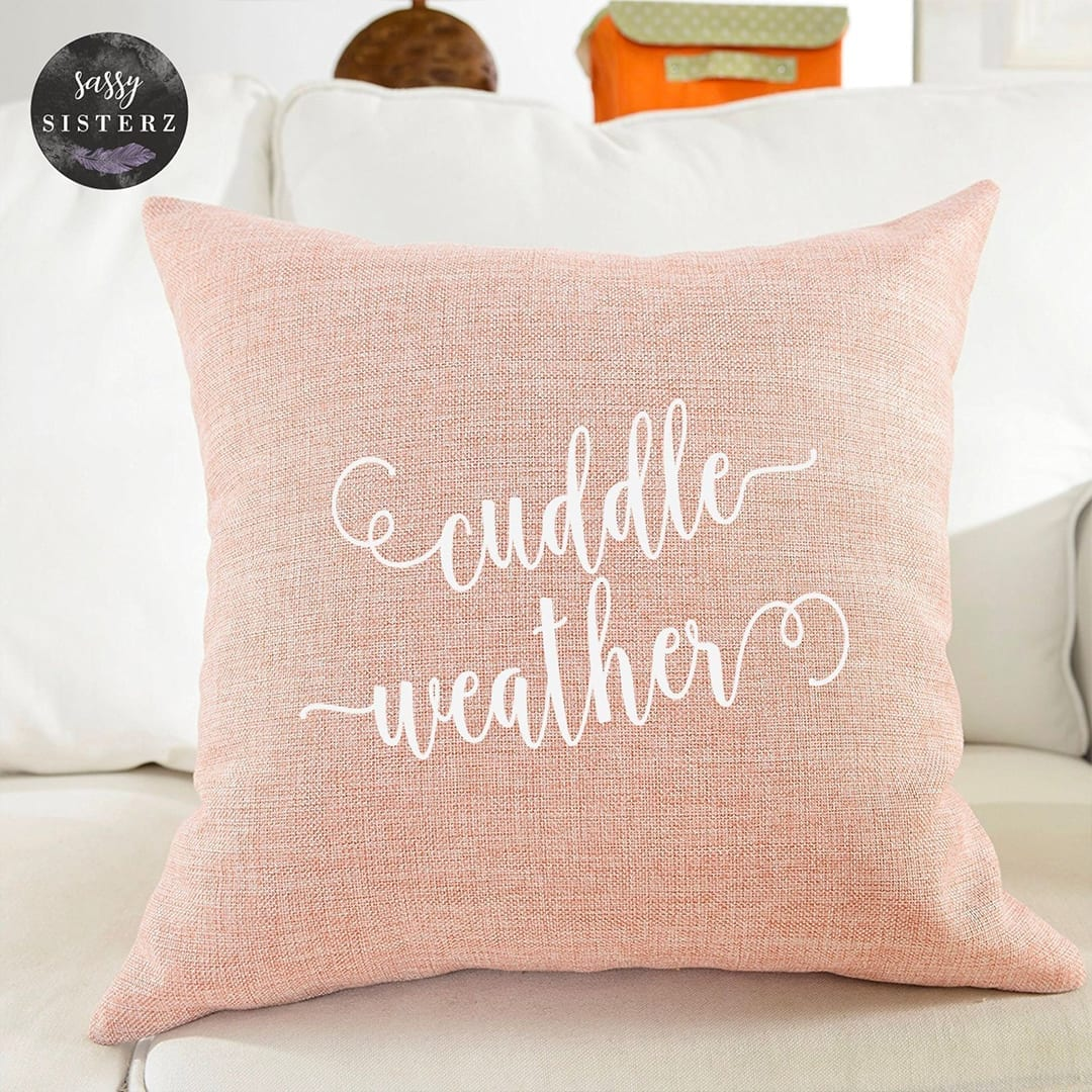 Cuddle Weather Pillow!