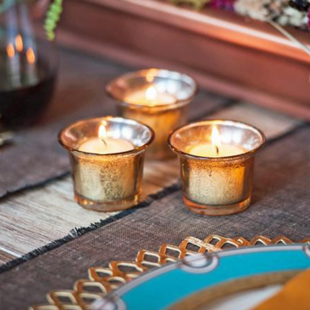 DIY Mercury Candle Holders