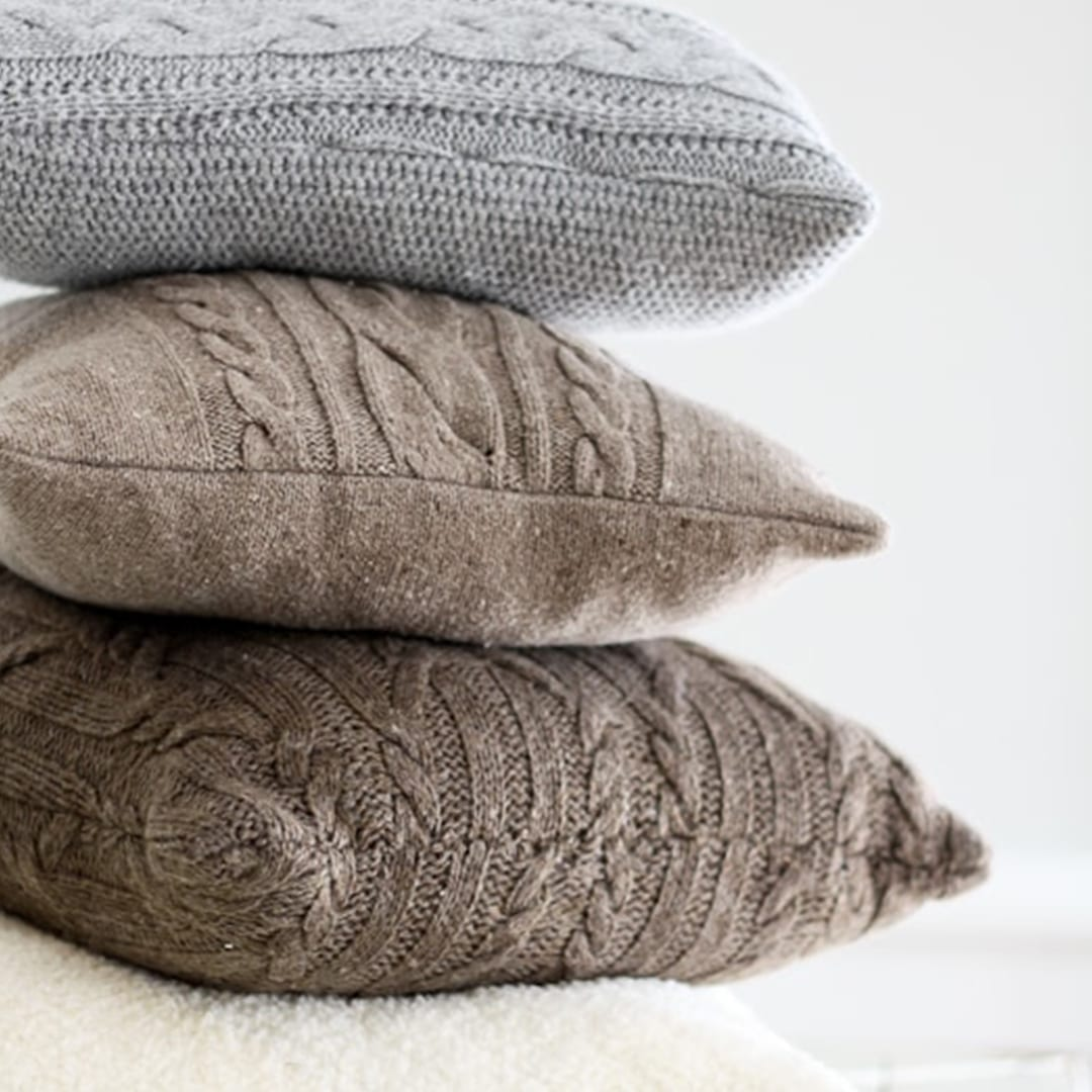 DIY Cozy Sweater Pillows