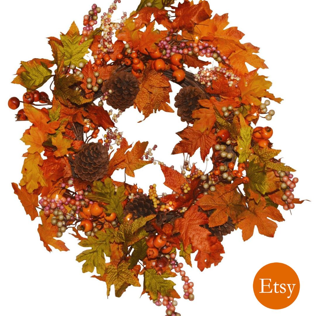 A Fall Wreath to Compliment Your Farmhouse Fall Decor